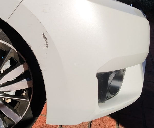 Pearl White, Honda Jazz Bumper Paint Scratches  – All About